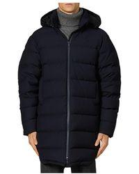 Sandro Long Down Puffer Jacket - Blue