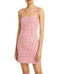 Bardot Klara Mini Gingham Dress - Red