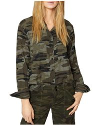 Sanctuary - Steady Camo Boyfriend Shirt - Lyst