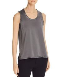 Go> By Go Silk Raw - Edge Tank - Gray