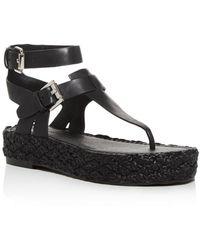 Sigerson Morrison Women's Jabel Buckle Platform Sandals - Black