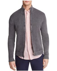 Bloomingdale's - Ribbed Cotton Zip Cardigan Sweater - Lyst