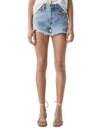 Agolde Parker Vintage Cutoff Denim Shorts In Swapmeet - Blue