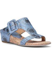 Donald J Pliner - Ofelia Buckled Wedge Sandals - Lyst