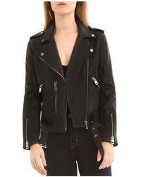 BAGATELLE.NYC | Belted Leather Biker Jacket | Lyst