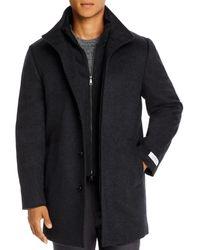 Cardinal Of Canada Mont Royal Wool & Cashmere Regular Fit Car Coat - Grey