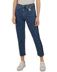 Ted Baker - Colour By Numbers Eruca High Waist Straight Jeans In Mid Wash - Lyst