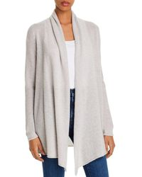 C By Bloomingdale's Open - Front Cashmere Cardigan - Grey