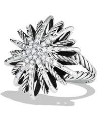 David Yurman - Starburst Ring With Diamonds - Lyst