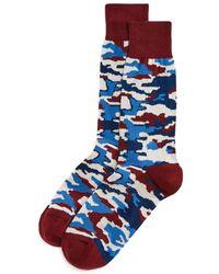 Bloomingdale's The Men's Store At Bloomingdales Camo Socks - Blue