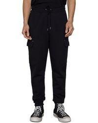 FRAME Slim Fit Cargo Jogger Trousers - Black