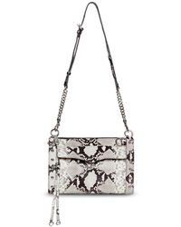 Rebecca Minkoff Mab Snake Embossed Studded Crossbody - Multicolour
