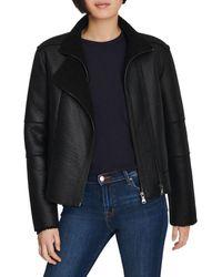 J Brand Camilla Faux Fur & Faux Leather Jacket - Black
