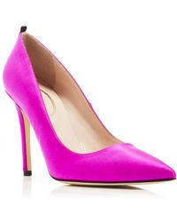 SJP by Sarah Jessica Parker Fawn Satin High - Heel Court Shoes - Purple