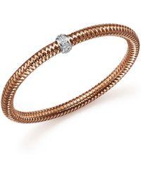 Roberto Coin - 18k Rose Gold Primavera Stretch Bracelet With Diamonds - Lyst