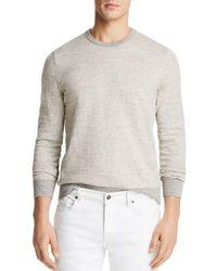 Bloomingdale's Mini-stripe Crewneck Sweatshirt - Gray