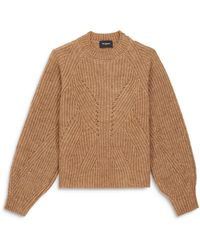 The Kooples Long Sleeve Knit Sweater - Brown