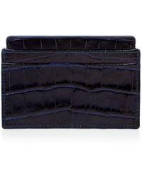 Smythson - Mara Printed Calf Leather Card Case - Lyst