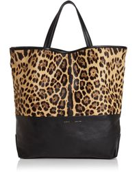 Alice.D - Large Leopard-print Fur & Leather Tote - Lyst