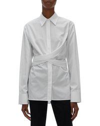 Helmut Lang Wrap Shirt - White
