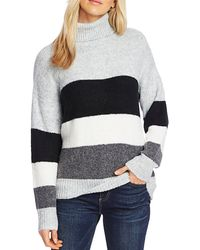 Vince Camuto - Color - Blocked Turtleneck Sweater - Lyst
