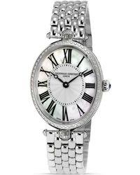 Frederique Constant Art Deco Oval Stainless Steel Watch - Metallic