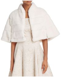 Betsey Johnson - Faux-fur Capelet - Lyst