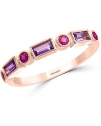 Bloomingdale's Amethyst & Ruby Ring In 14k Rose Gold - Pink