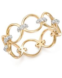 Mateo - 14k Yellow Gold Diamond Connected Circle Ring - Lyst