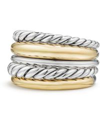 David Yurman - Pure Form Wide Ring With 18k Gold - Lyst