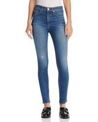 Rag & Bone - High-rise Skinny Jeans In El - Lyst