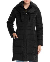 T Tahari Mia Fitted Puffer Coat - Black
