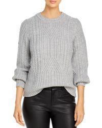 Karl Lagerfeld Textured Knit Sweater - Gray