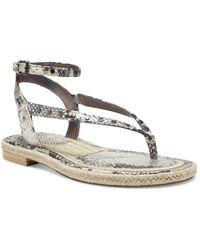 Vince Camuto Kalmia Ankle Strap Studded Sandals - Grey