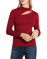 Vince Camuto Cutout Sweater - Red