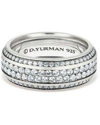David Yurman - Exotic Stone Streamline Pavé Band Ring With Gray Sapphire - Lyst