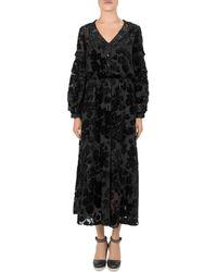 The Kooples - Black Magic Flocked Velvet Dress - Lyst