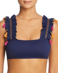 OndadeMar - Embellished Ruffle Bikini Top - Lyst