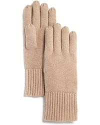 C By Bloomingdale's - Chunky Rib-trim Cashmere Gloves - Lyst