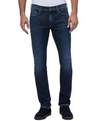 PAIGE Lennox Slim Fit Jeans In Broderick - Blue