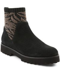Andre Assous Women's Sara Fabric Panel Suede Booties - Black