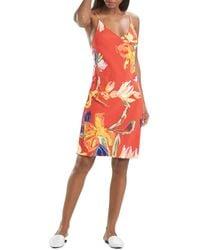 Natori Kira Floral Print Slip Nightgown - Red