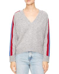 Sandro - Briona Striped-sleeve Sweater - Lyst