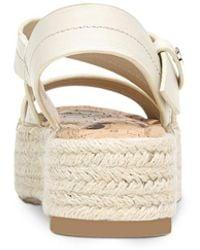 Sam Edelman Aisling Strappy Espadrille Platform Sandals - White
