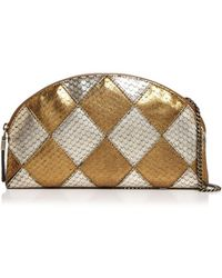Eric Javits - Pierrot Embossed Leather Shoulder Bag - Lyst