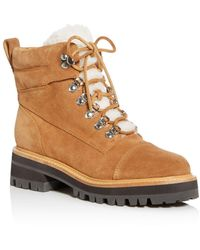 Marc Fisher Women's Idella Shearling Hiker Boots - Brown