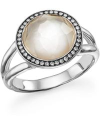 Ippolita - Sterling Silver Stella Ring In Mother - Of - Pearl With Diamonds - Lyst