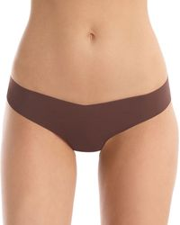 Commando Classic Solid Thong - Brown
