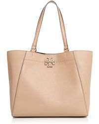 Tory Burch - Mcgraw Large Leather Carryall Tote - Lyst