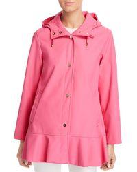 Kate Spade Matte Coated Flounce Jacket - Pink
